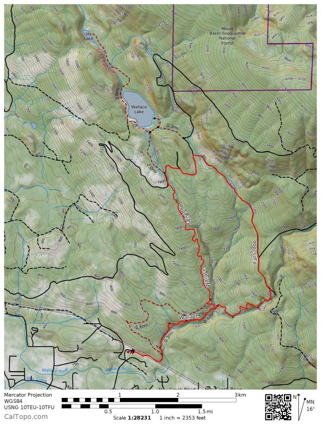 Wallace Falls trail map